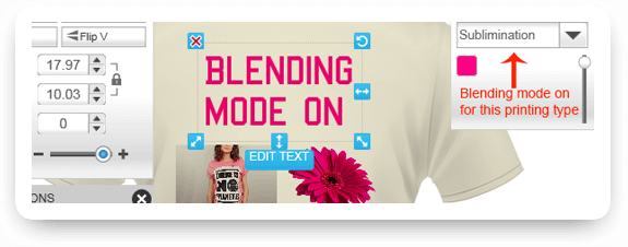 Design Blending Mode for Direct To Garment Printing