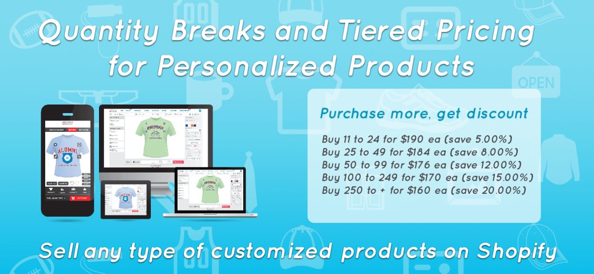 Shopify quantity discount for custom products