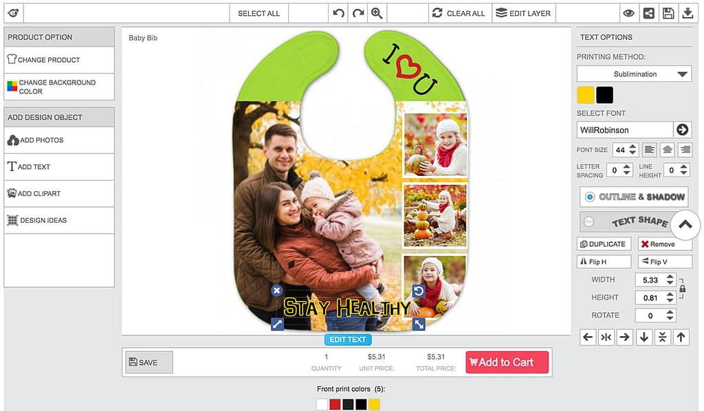 Photo Printed Product Personalizer