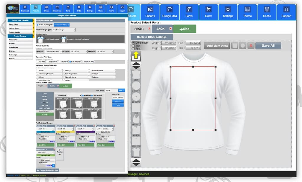 T-shirt design software for ecommerce