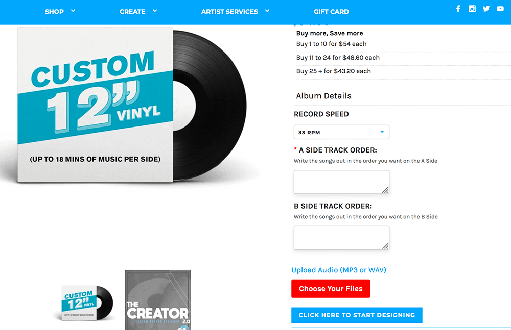 Make your own Lathe Cut Vinyl Record