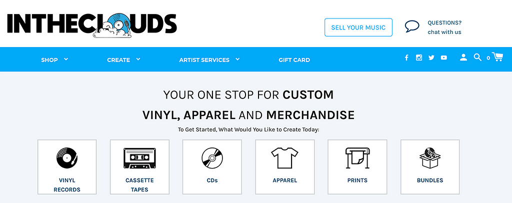 In The Clouds - YOUR ONE STOP FOR CUSTOM VINYL, APPAREL AND MERCHANDISE