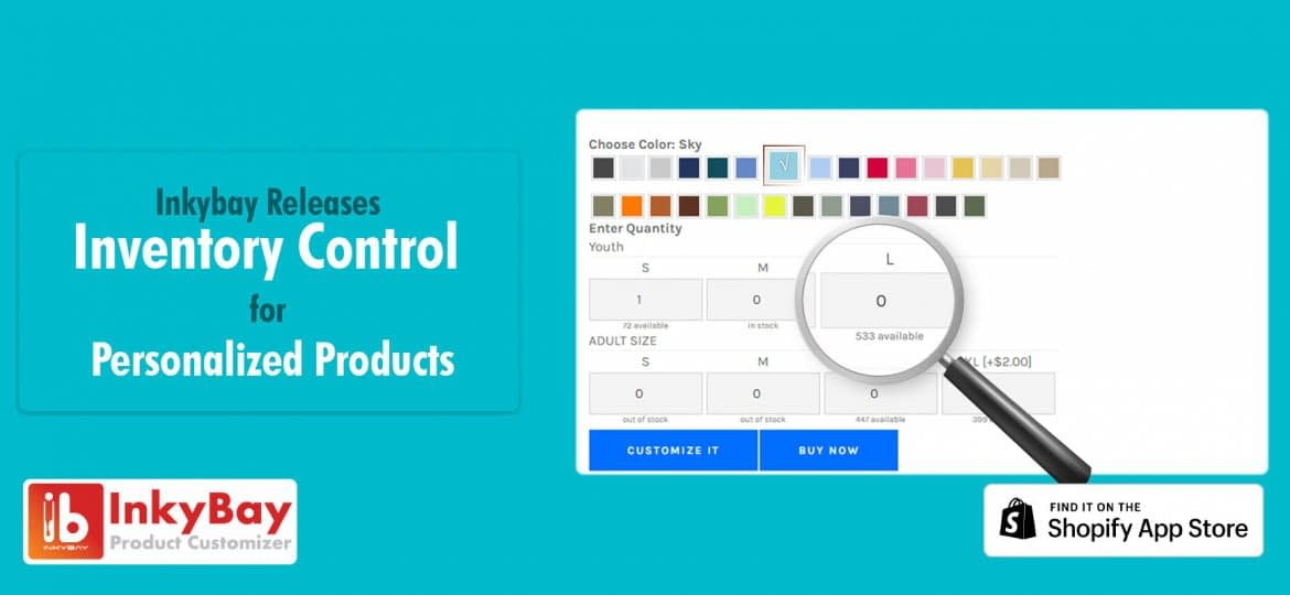 Inkybay release inventory control for personalized products