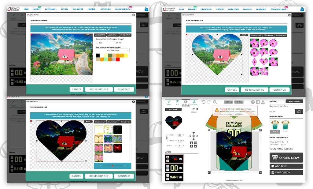 Product personalizer app photo editing and shape masking