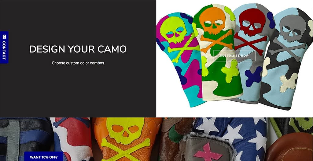 Design Your Own Skull & Bones Camo Headcover