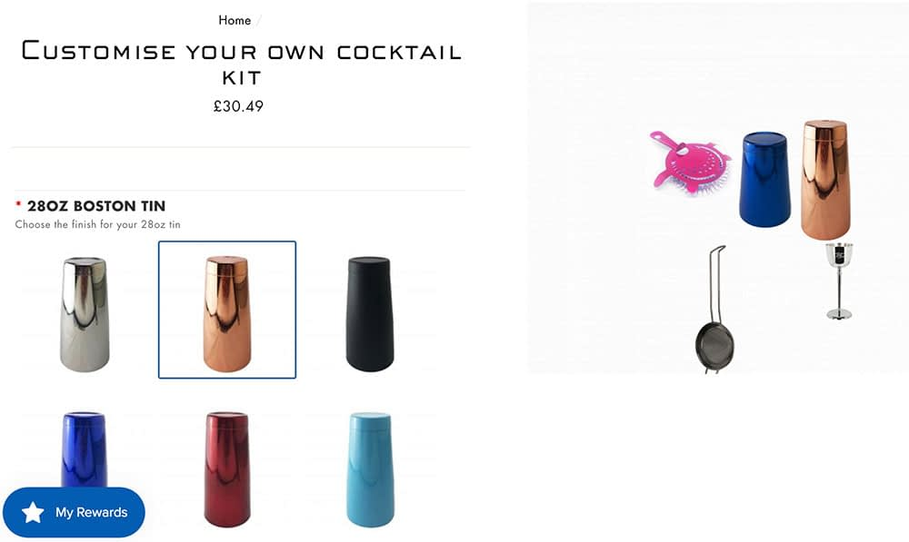 Customise your own cocktail kit