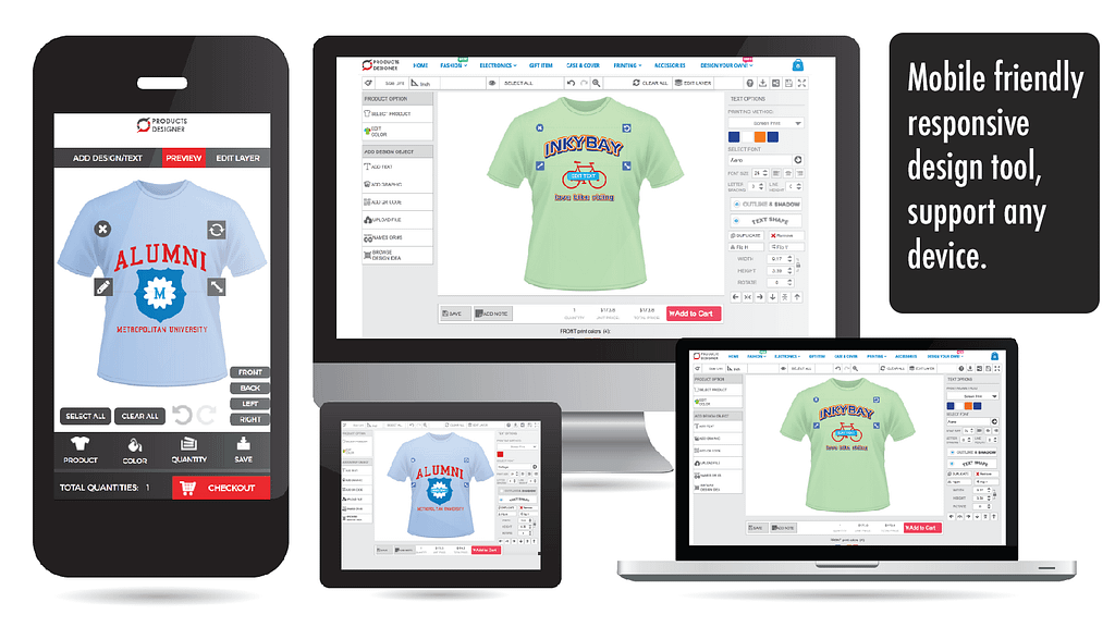 Product Customization Software For Print Shop Shopify T Shirt Design Tool