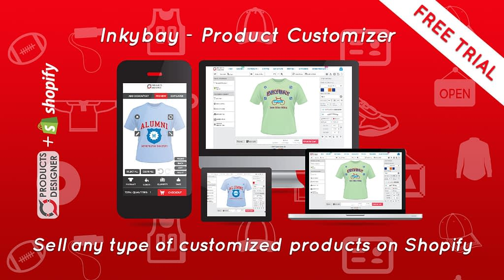 Product customization software for Shopify